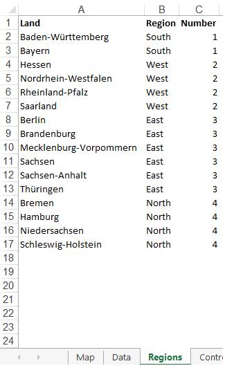 Niedersachsen Karte Mit Städten.Excel Karte Deutschland Folge 1 Wie Erstellt Man Eine