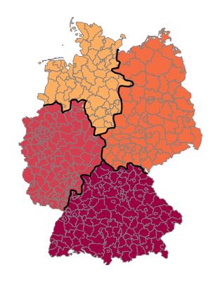 Excel-Karte Deutschland – wie erstellt man eine geographische Aufteilung 8