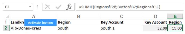 Excel-Karte Deutschland - Wie baut man die Aufteilung auf Makroregion, Region, Handelsvertreter 4