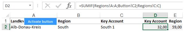 Excel-Karte Deutschland - Wie baut man die Aufteilung auf Makroregion, Region, Handelsvertreter 5