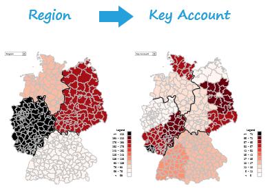 Excel-Karte Deutschland - Wie baut man die Aufteilung auf Makroregion, Region, Handelsvertreter 6