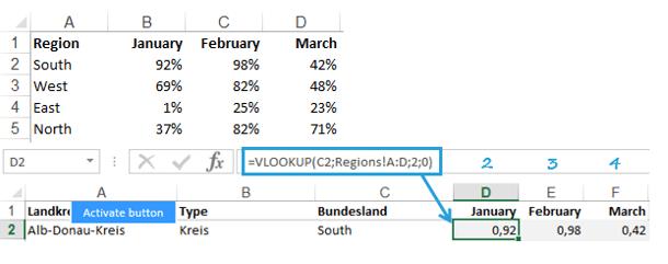 Excel-Karte Deutschland - Wie stellt man Daten die sich auf Zeitabschnitte beziehen 3