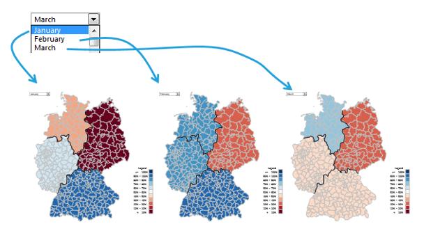 Excel-Karte Deutschland - Wie stellt man Daten die sich auf Zeitabschnitte beziehen 4