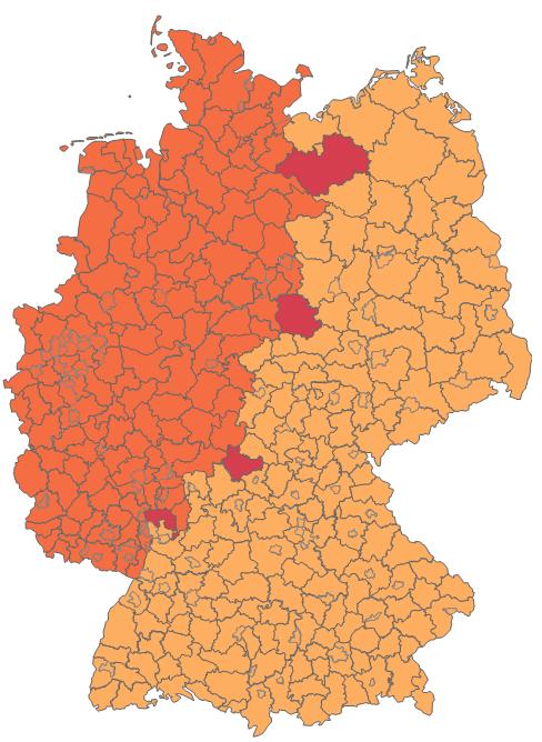 Excel-Karte Deutschland - die geographische Aufteilung mit Postleitzahlen erstellen 10