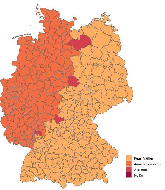 Excel-Karte Deutschland - die geographische Aufteilung mit Postleitzahlen erstellen 11