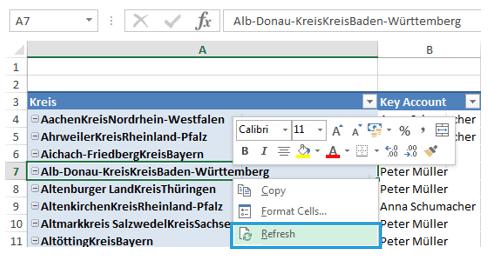 Excel-Karte Deutschland - die geographische Aufteilung mit Postleitzahlen erstellen 5