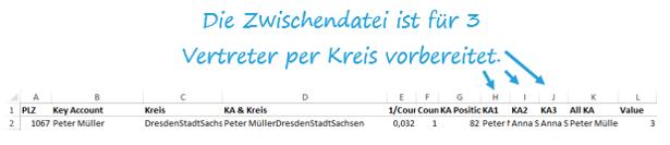 Excel-Karte Deutschland - die geographische Aufteilung mit Postleitzahlen erstellen 7