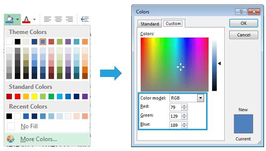 Excel-Karte Deutschland – Wie verandert man die Farben 1