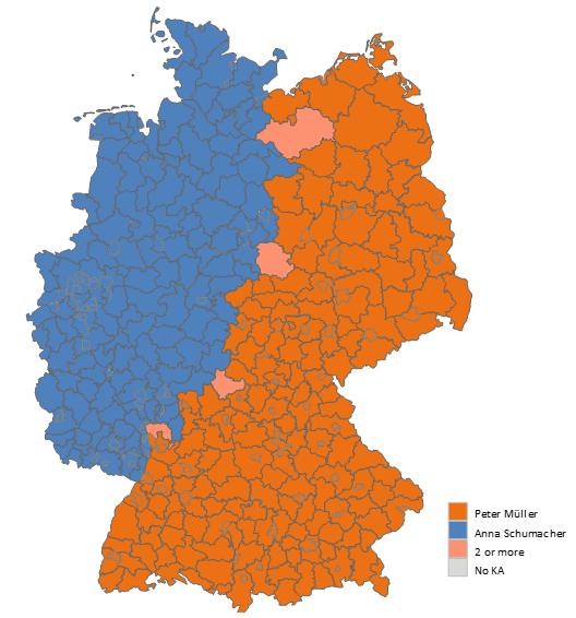 Land Karte Deutschland.Analyse Des Vertriebs Auf Der Landkarte Excel Excel Karte
