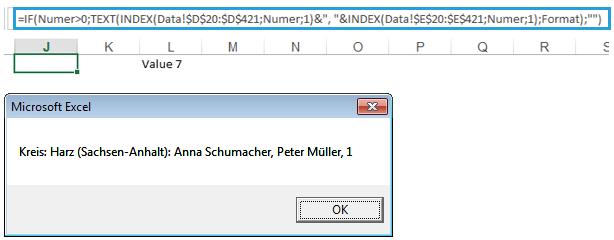 Excel-Karte Deutschland – Wie modifiziert man eine Meldung 5
