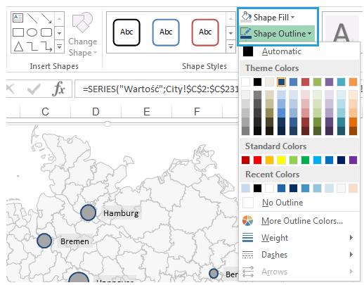 Excel-Karte Deutschland – Wie stellt man Daten nach Stadten 5