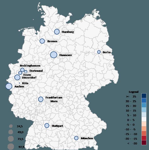 Excel-Karte Deutschland – Wie stellt man Daten nach Stadten 6