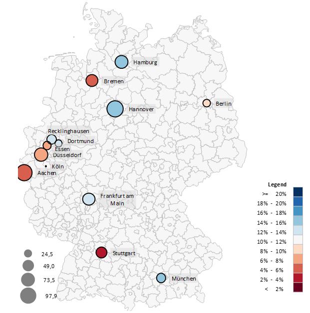 Excel-Karte Deutschland – gleichzeitig zwei Variablen darstellen 4