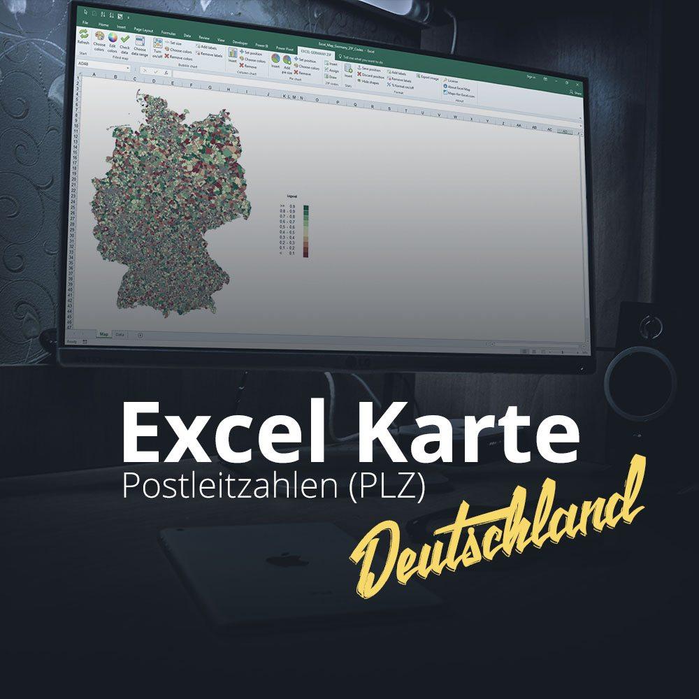 Excel Karte Deutschland Postleitzahlen
